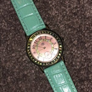 Accessories - Kirk Folly Green Leather Watch